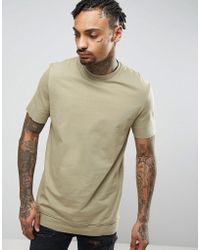 ASOS - Longline T-shirt With Layered Hem And Raw Edges - Lyst
