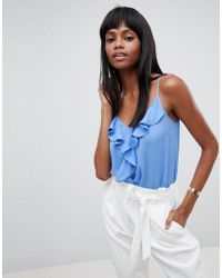Lipsy - Cami With Waterfall Frill Detail - Lyst