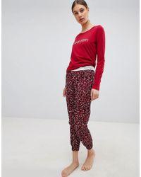 Calvin Klein - Logo Long Sleeve Pyjama Gift Set - Lyst
