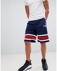 Fila - Black Line Baseball Mesh Shorts In Navy - Lyst