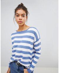 Blend She - Janka Striped Knit Jumper - Lyst