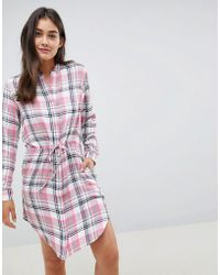 Blend She - Riri Check Shirt Dress - Lyst