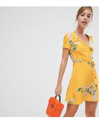 River Island - Floral Print Tea Dress - Lyst