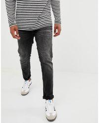 Jack & Jones - Intelligence Tim Slim Fit Jeans In Black - Lyst