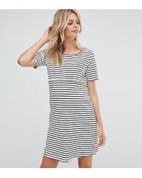 7e9d28e7195 GeBe Maternity - Nursing Striped Shift Dress With Star Emboridery - Lyst
