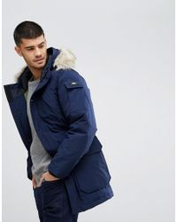 Penfield - Hoosac Down Insulated Parka Jacket Detachable Faux Fur Trim In Navy - Lyst