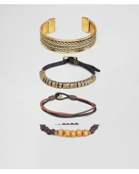 ASOS - Bracelet And Bangle Pack In Burnished Gold Tone - Lyst