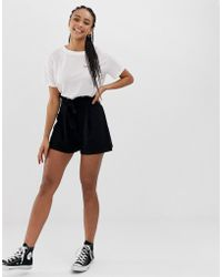 ASOS - Shorts With Paperbag Waist And Tie - Lyst