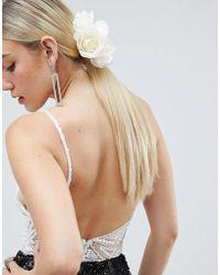 ASOS DESIGN - Floral Pearl Corsage Hair Clip - Lyst