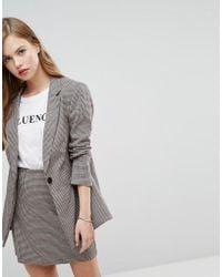New Look - Check Blazer - Lyst