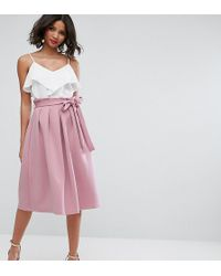 ASOS - Scuba Prom Skirt With Paperbag Waist - Lyst