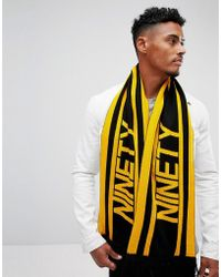 River Island - 90's Football Scarf In Yellow And Black - Lyst