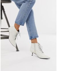 Gestuz Nea Lace Up Pointy Boots