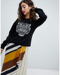 Mango - Tiger Head Sweatshirt - Lyst