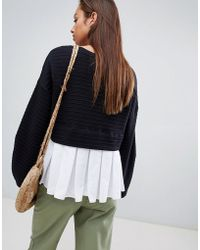 French Connection - Pleat Back Jersey Top - Lyst
