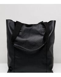 Mi-Pac - Mi Pac Tumbled Black Shopper Bag - Lyst