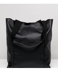 Mi-Pac - Mi Pac Tumbled Black Shopper Bag - Lyst