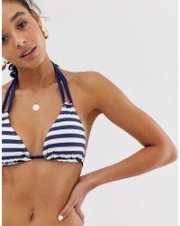 0a8eaa20b9c Banana Moon Hologram Bralette Bikini Top in Blue - Lyst