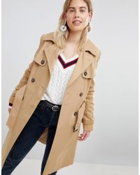 New Look - Structured Trench Trench Coat - Lyst