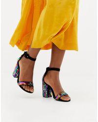 New Look - Rainbow Sequin Heeled Sandal - Lyst
