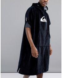 Quiksilver - Hoody Towel In Black - Lyst
