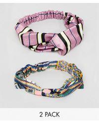 New Look - 2 Pack Printed Turban - Lyst