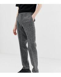 Noak - Slim Fit Harris Tweed Suit Trousers In Grey - Lyst