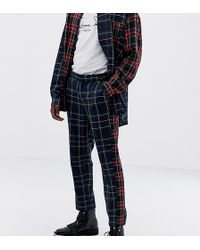 ASOS - X Laquan Smith Skinny Check Pants With Contrast Check Panel - Lyst
