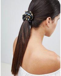 ASOS - Design Vintage Style Scarf Print Scrunchie Hair Tie - Lyst