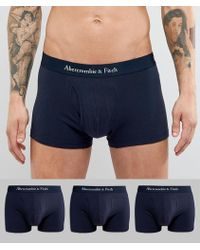 Abercrombie & Fitch - 3 Pack Trunks Logo Waistband In Navy - Lyst