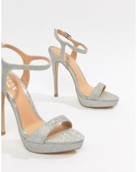 cd31175e4ed160 Lyst - Lipsy Brooke Rose Gold Metallic Tie Up Wedge Sandals in Metallic