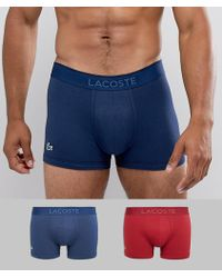 Lacoste - Trunks 2 Pack In Micro Pique - Lyst