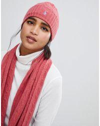 Polo Ralph Lauren - Cashmere Blend Cable Knit Hat - Lyst