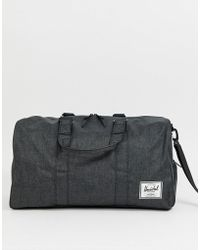 Herschel Supply Co. - Offset Novel - Borsone da 42,5 litri nero con tratteggio incrociato - Lyst