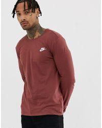 ee3b8abb Nike Raglan T-shirt With Contrast Camo Sleeves In Grey 805275-091 in ...
