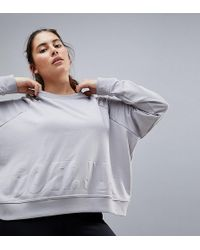 Nike - Nike Plus Training Versa Crop Sweat In Grey - Lyst