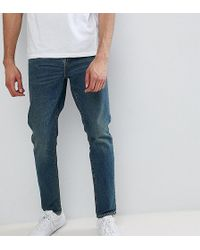 ASOS - Tall Tapered Jeans In Vintage Dark Wash - Lyst