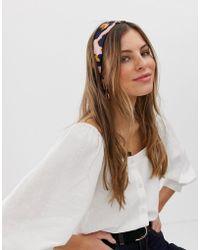 ASOS - Headscarf In Pink Leopard Print - Lyst