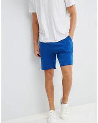 Pull&Bear - Jersey Shorts In Blue - Lyst