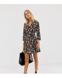 Stradivarius - Wrap Front Shirt Detail Short Dress - Lyst