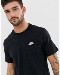 0d2487dde Nike Club T-shirt With Embroidered Futura Logo In Black 827021-011 ...