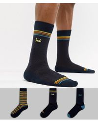 Pringle of Scotland - Kentallen Socks 3 Pack - Lyst