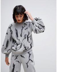 ASOS - Embellished Sweatshirt Co-ord - Lyst