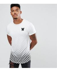 Good For Nothing | Muscle T-shirt In White With Checkerboard Fade | Lyst