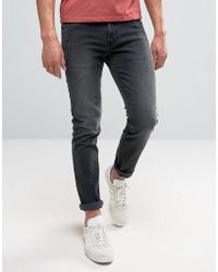 Farah - Drake Slim Fit Jeans In Charcoal - Lyst