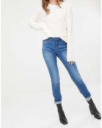 Pieces - Five Betty High Rise Skinny Jeans - Lyst