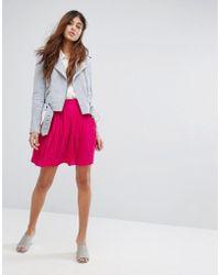 Vero Moda - Pleated Mini Skirt - Lyst