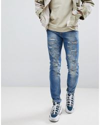 Sixth June - Extreme Ripped Skinny Jeans - Lyst