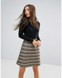 Traffic People - 2-in-1 Dress With Textured Skirt - Lyst