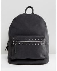 Pieces - Studded Backpack - Lyst
